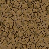 Cracked parched earth ground surface texture illustration