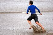 Skim Boarder At The Beach
