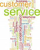 Word cloud concept illustration of customer service