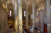 Portugal. Lisbon. Interior Of Church At Jeronimos Monastery