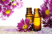 Essential Oil With Flowers And Salt