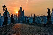 Charles Bridge Prague Sunrise
