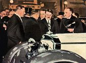 Adolf Hitler At A Car Expo