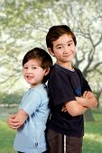 Two Young Brothers Of Mix Parentage