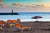 Beach At Sunset, Puerto Rico, Gran Canaria