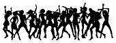 Mulheres bonitas dançando silhuetas