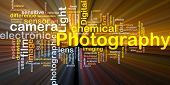 Background concept illustration of digital camera photography glowing light