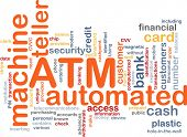 Word cloud concept illustration ATM Automated Teller Machine
