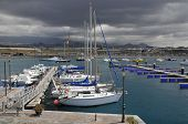 Port of La Galletas at Tenerife