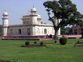 image of preamble  - image of mousoleum of Itmad ud daula a relative of Great Mughal Akbar structure considered as preamble of Taj Mahal - JPG