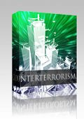 Software package box Terrorist terror attack Al Queda terrorism bombing concept illustration