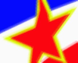 stock photo of former yugoslavia  - The flag of Yugoslavia - JPG