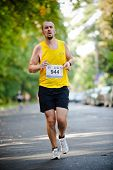 WROCLAW - SEPTEMBER 11: Wroclaw Marathon runner, September 11, 2011 in Wroclaw, Poland