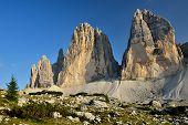 Tre Cime Di Lavaredo, Sesto Dolomitas en Italia