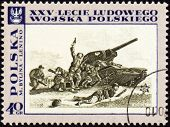 Tank Attack On Post Stamp