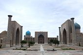 Registan And Its Three Madrasahs In Samarkand