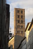 Medieval Belfry In Arezzo (tuscany, Italy)