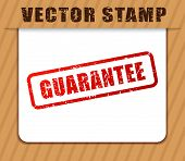 Illustration Of Guarantee Buffered On White Paper poster