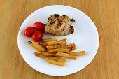 Chicken combo dish