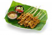 Moo satay, satay de cerdo, cocina tailandesa