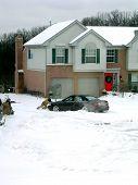 Winter Snow Stuck