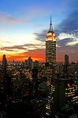 picture of empire state building  - New York City midtown skyline at dark - JPG