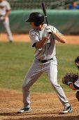 MESA, AZ - NOVEMBER 4: Salt River Rafters outfielder Tim Wheeler waits for a pitch in a game against