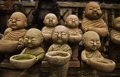 The stone craft of monk dolls