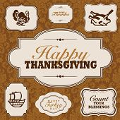 foto of wedding feast  - Vector Fall and Thanksgiving Frame Set - JPG
