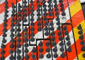 Row Of Rivets Of Aluminum For Sports Car poster