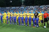 Ukraine National Football Team Players Sing The Hymn