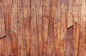 Texture Of Wooden Boards And Planks. Planks Located Exactly In A Row poster
