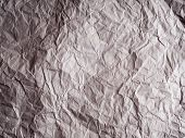 White Crumpled Paper Texture Background, Brown Recycle Crumpled Paper For Background : Crease Of Bro poster