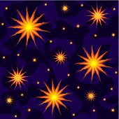 stars in the night sky seamless background