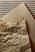Crumpled Paper And Goffered Csrdboard Textures