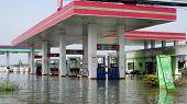Flooded Petrol Station