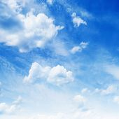 stock photo of cumulus-clouds  - Blue sky with clouds - JPG