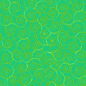 Abstract Pattern Of Curls Of Bright Green And Green-yellow On A Green Background. Beautiful Backgrou poster