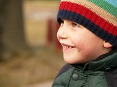 Winter Boy Smiling