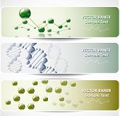 Molecular abstract web banners.