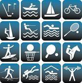 Conjunto de iconos del deporte.