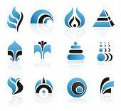 Set of vector logo or design elements