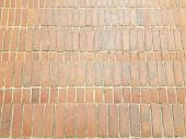 Red Brick Stairs Or Steps Masonry Or Background poster