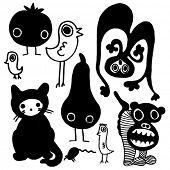 strange but funny creatures doodles