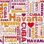 i love my Cuba Havana seamless pattern in vector