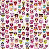 Cute seamless owl background patten for kids in vector