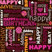 pic of happy birthday card  - Happy birthday wishes card background pattern in vector - JPG