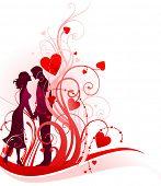 Paar in liefde met ruimte voor tekst
