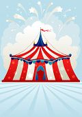 foto of stratus  - Circus tent with space for text - JPG