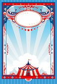 Circus poster with space for text